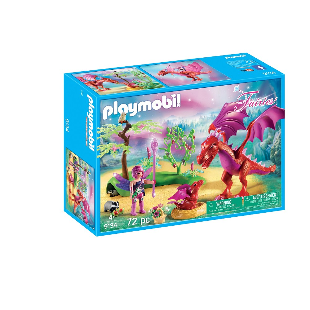 Playmobil Friendly Dragon with Baby, Multi-Colored