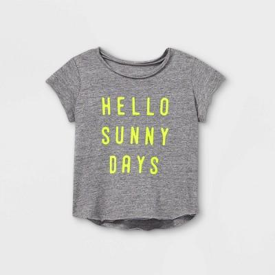 Grayson Mini Toddler Girls' 'Hello Sunny Days' Short Sleeve T-Shirt - Gray