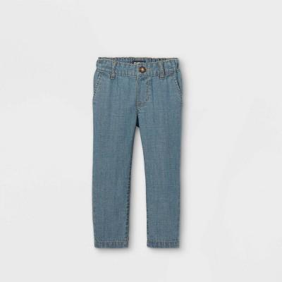 OshKosh B'gosh Toddler Boys' Chambray Flat-Front Woven Chino Pants - Blue