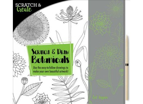 Scratch & Draw Botanicals (Paperback) (Zoe Ingram) - image 1 of 1