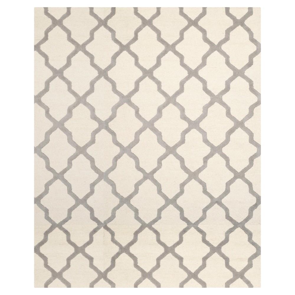 Maison Textured Rug - Ivory / Silver (9'X12') - Safavieh, Ivory/Silver