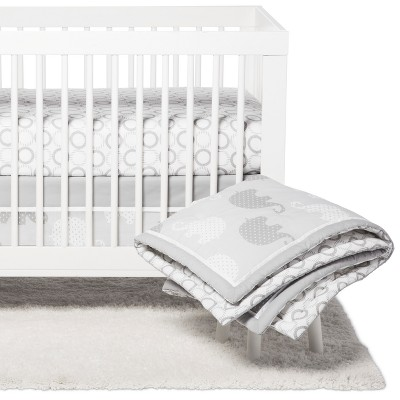 NoJo Crib Bedding Set - Elephant Dream - 8pc - Gray