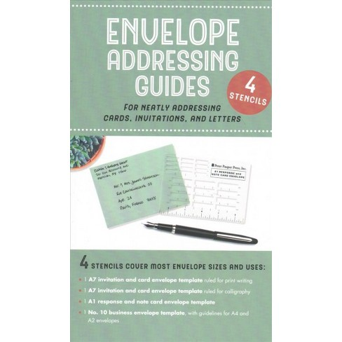 envelope addressing guides for neatly addressing cards