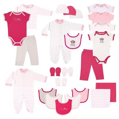 Luvable Friends Baby Girls' 24 Piece Gift Set - Elephant