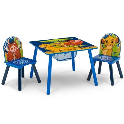 Disney The Lion King Table and Chair Set with Storage - Delta Children