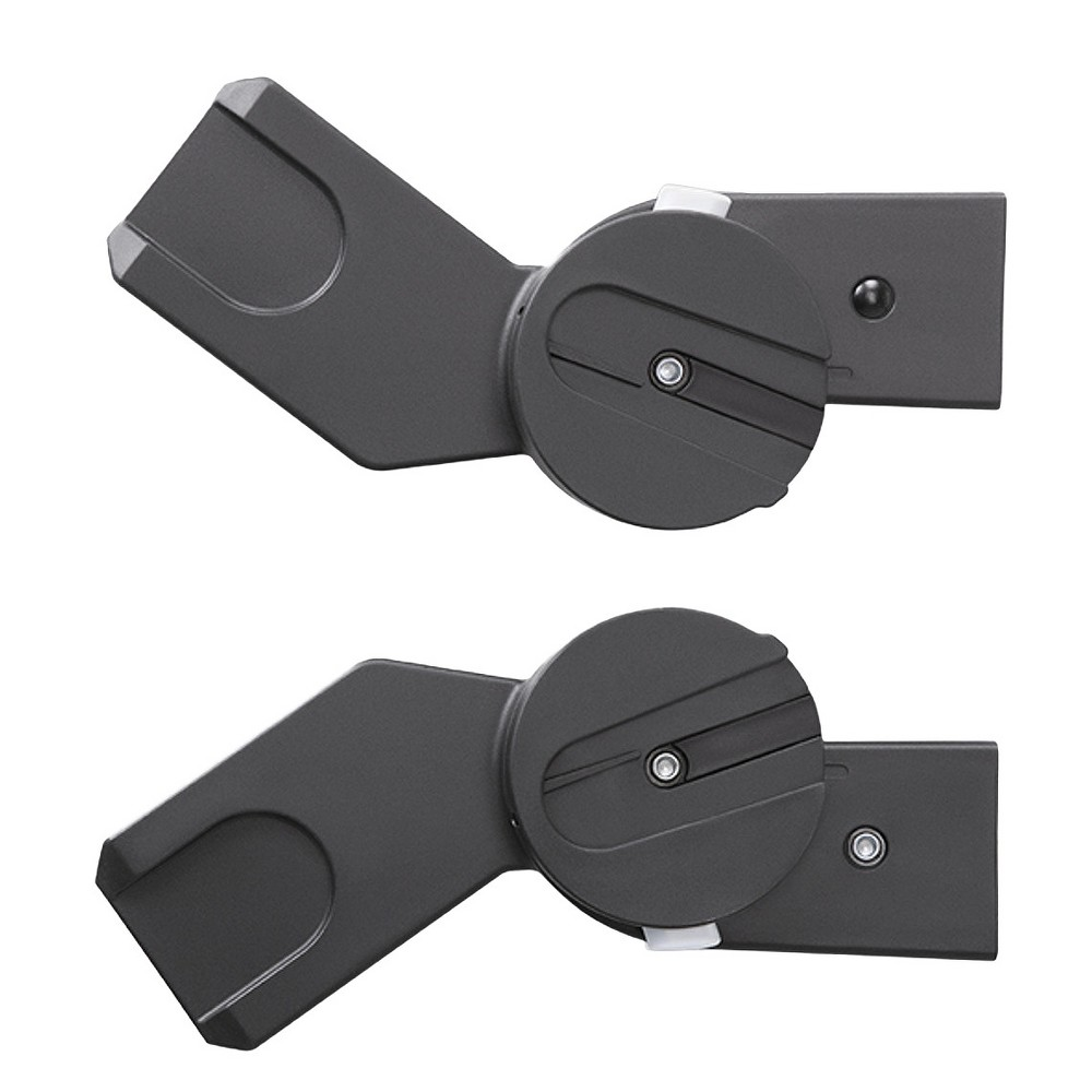 Image of CYBEX Agis, Eternis, Iris, and Balios Stroller Car Seat and Carry Cot Adapters - Set of 2, Black