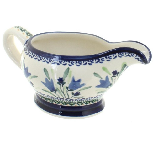 Blue Rose Polish Pottery Blue Tulip Gravy Boat - image 1 of 1