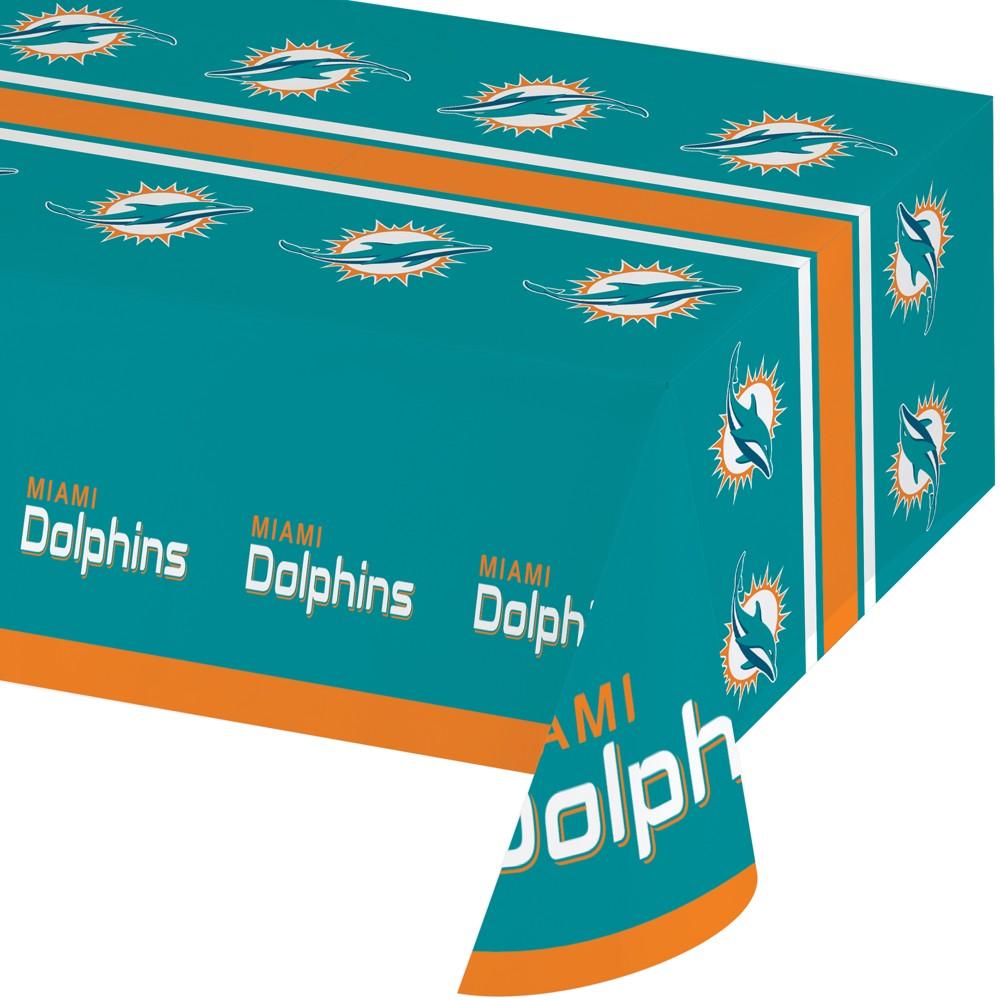 Miami Dolphins Plastic Tablecloth, Multi-Colored