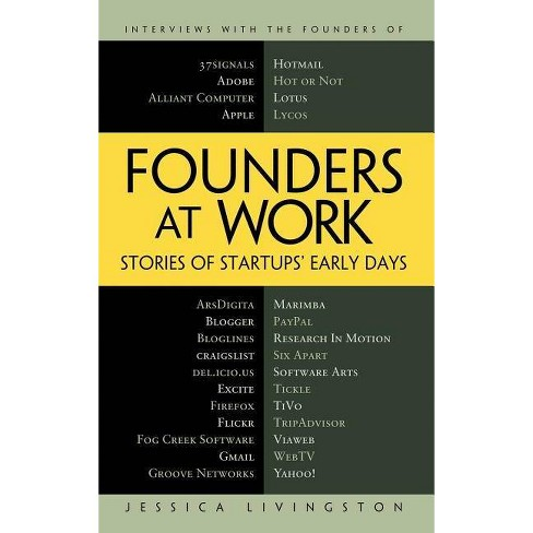 Founders at Work - by  Jessica Livingston (Hardcover) - image 1 of 1