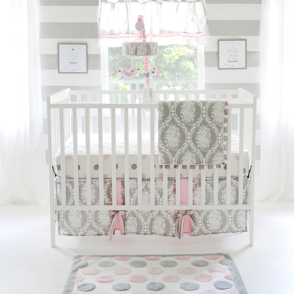 Image of Crib Bedding Set My Baby Sam Gray