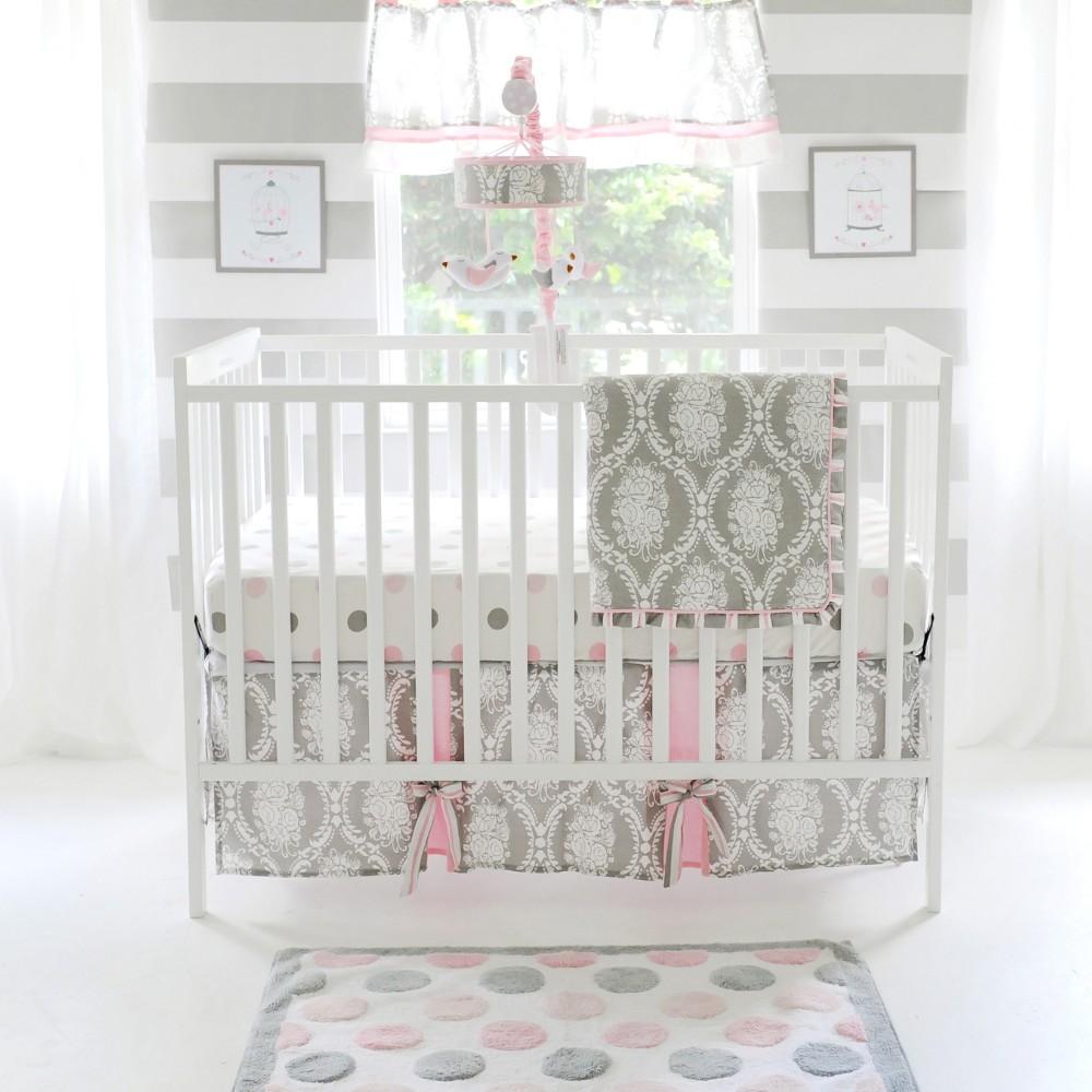 Image of Crib Bedding Set My Baby Sam Gray