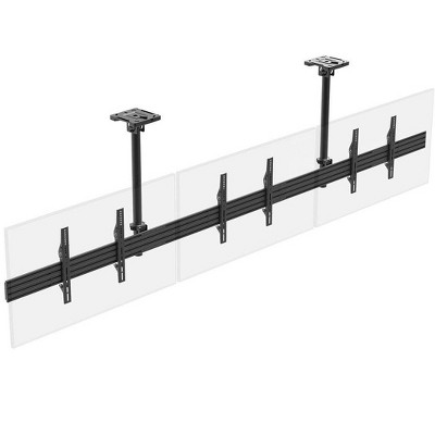 Monoprice 3x1 Menu Board Ceiling Mount For Displays Between 32in to 65in, Max Weight 66 lbs. ea., VESA Patterns up to 600x400 - Commercial Series
