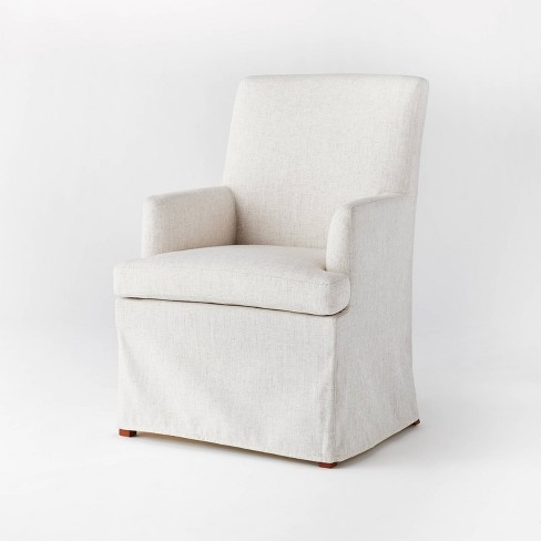 Upholstered Slipcover Dining Chair Cream - Threshold™ designed with Studio McGee - image 1 of 4
