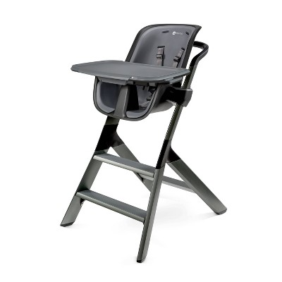 4moms high chair with Magnetic One-Handed Tray Attachment - Black/Gray