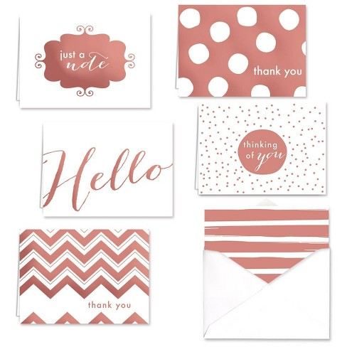 Rose Gold Foil Note Assortment Set Greeting Card - Canopy Street - image 1 of 1