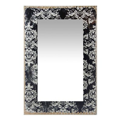 French Country Damask 23.5  X 15.75  Wall Mirror Black - Infinity Instruments
