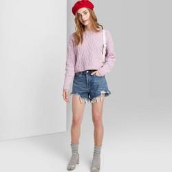 Women's High-Rise Frayed Hem Jean Shorts - Wild Fable™(Regular & Plus)