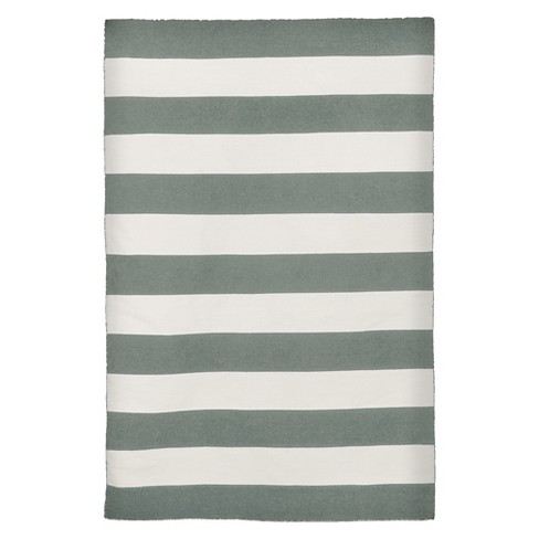 "Liora Manne Sorrento Rugby Stripe Indoor/Outdoor Area Rug - Gray (3'6""x5'6"") - image 1 of 1"