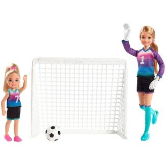 Barbie Team Stacie Doll & Chelsea Doll Soccer Playset