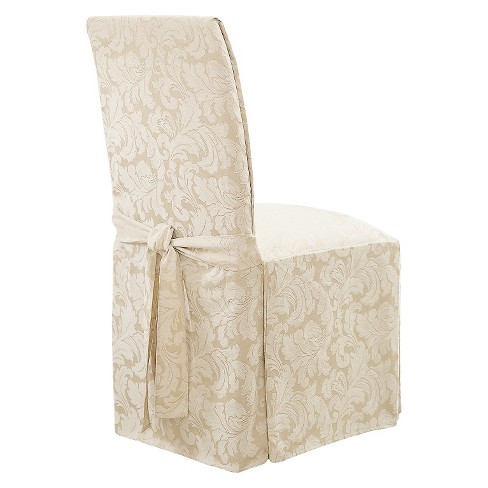Dining Room Chair Loose Covers long dining room chair slipcovers - sure fit® : target