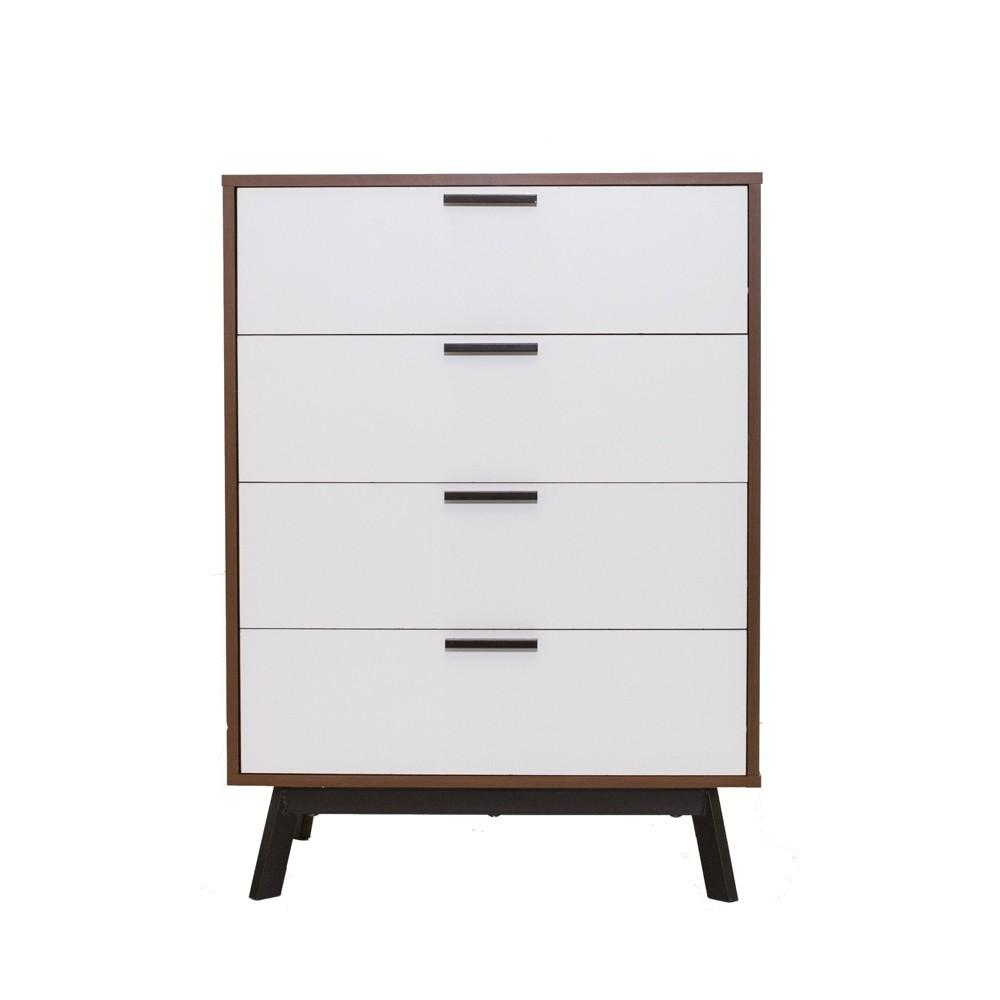 Image of Aspen 4 Drawer Dresser Vintage Reddish/Brown - Loft 607