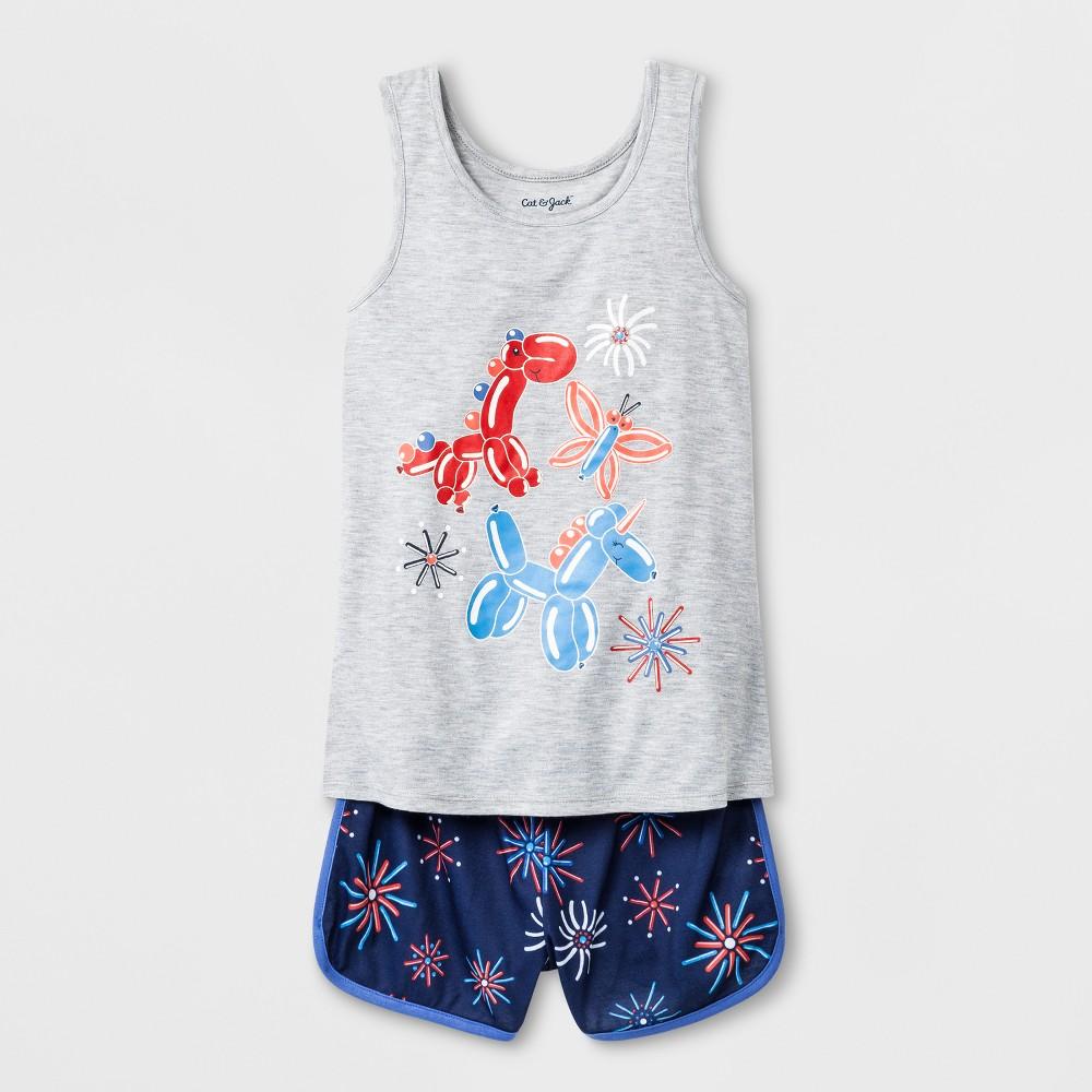 Girls' Balloon Animals Graphic Pajama Set - Cat & Jack Grey S, Gray
