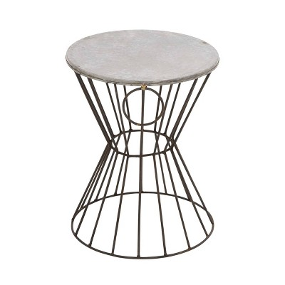 Metal Stool Patio Accent Table - Olivia & May