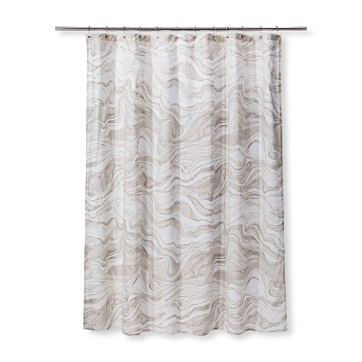 Marble Printed Shower Curtain Khaki - Project 62™