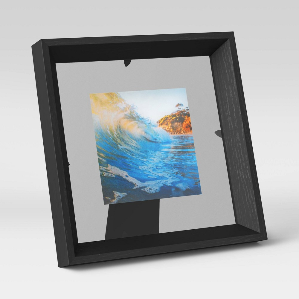 4 34 X 4 34 Wedge Floating Picture Frame Black Room Essentials 8482
