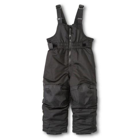 Toddler Boys' Snowbibs - Black 2T - image 1 of 1