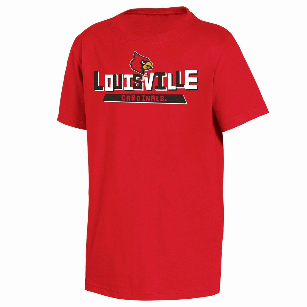 NCAA Toddler Boys' 2pk T-Shirt Louisville Cardinals - 3T, Multicolored