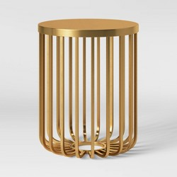Kibara Cage Accent Table Brass - Opalhouse™