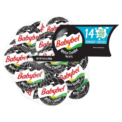 Mini Babybel White Cheddar Cheese - 14ct/10.5oz - image 1 of 4