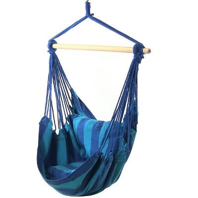 2 Hammock Chair Swings with Pillows - Oasis - Sunnydaze Decor