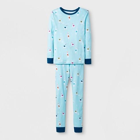 addd4f500 Girls  2pc Tight Fit Long Sleeve Llama Graphic Pajama Set - Cat ...
