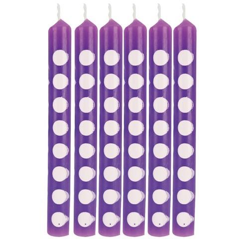 12ct Amethyst Polka Dot Candles Purple - image 1 of 2