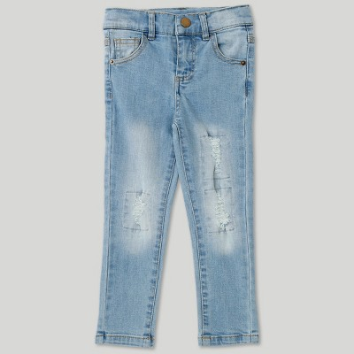 Afton Street Toddler Boys' Distressed Jeans - Blue 2T