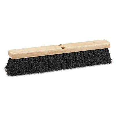 Boardwalk BWK20618 Medium Weight Polypropylene Bristle 18 in. Floor Brush Head - Black