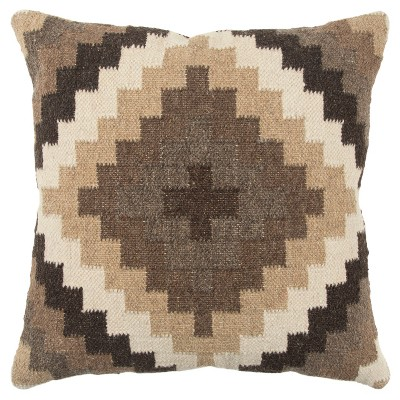 Rizzy Home Southwest Throw Pillow Brown