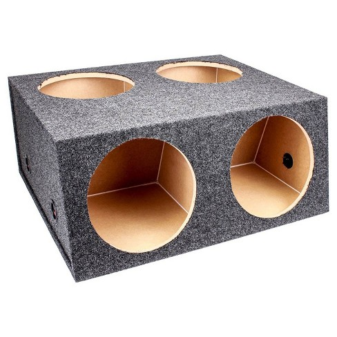 "Q Power Car Audio Subwoofer Enclosure Box Chuchero For 8/"" Mids and 3/"" Tweeters"