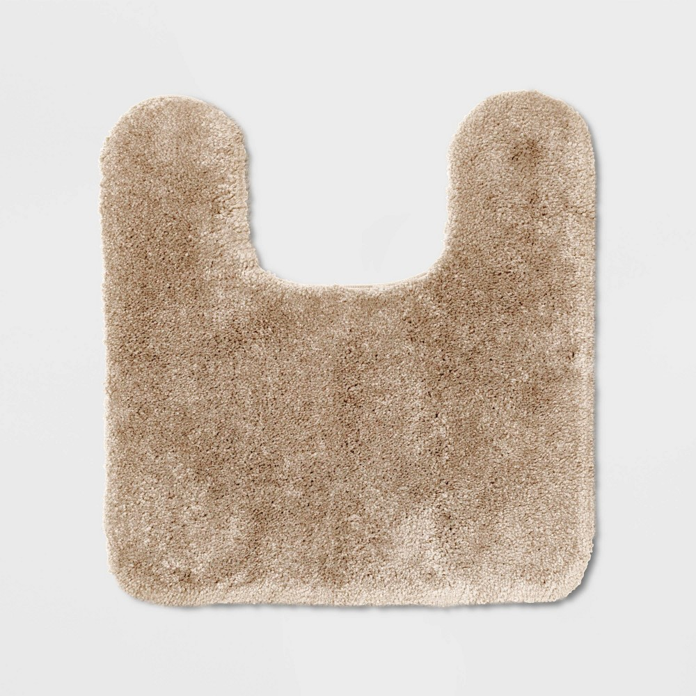 Image of Performance Nylon Contour Bath Rug Tan - Threshold
