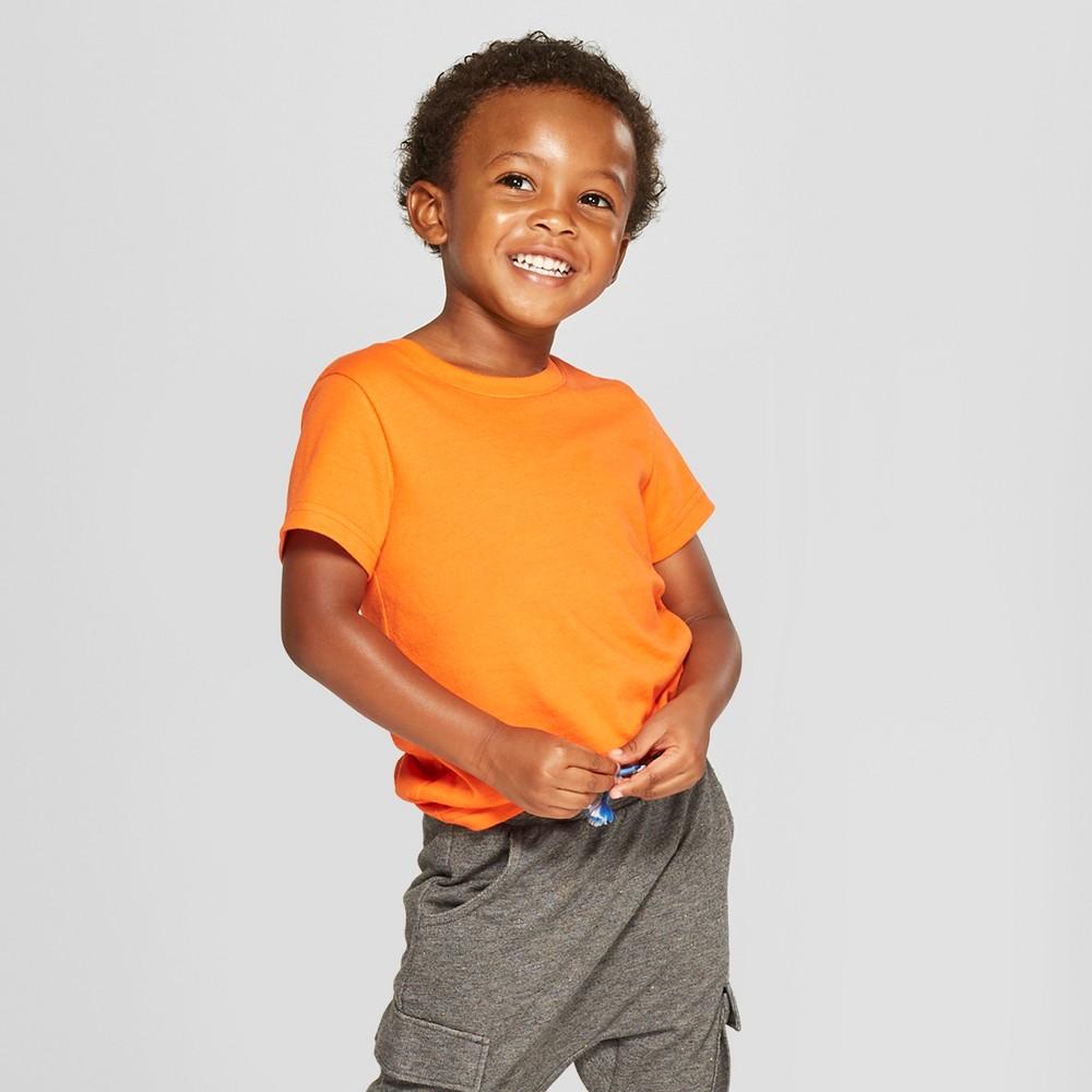 Toddler Boys' Short Sleeve T-Shirt - Cat & Jack Orange 3T