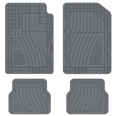 "Michelin 19""x34"" 4pc Shape Fit Rubber Floormat Set Gray"