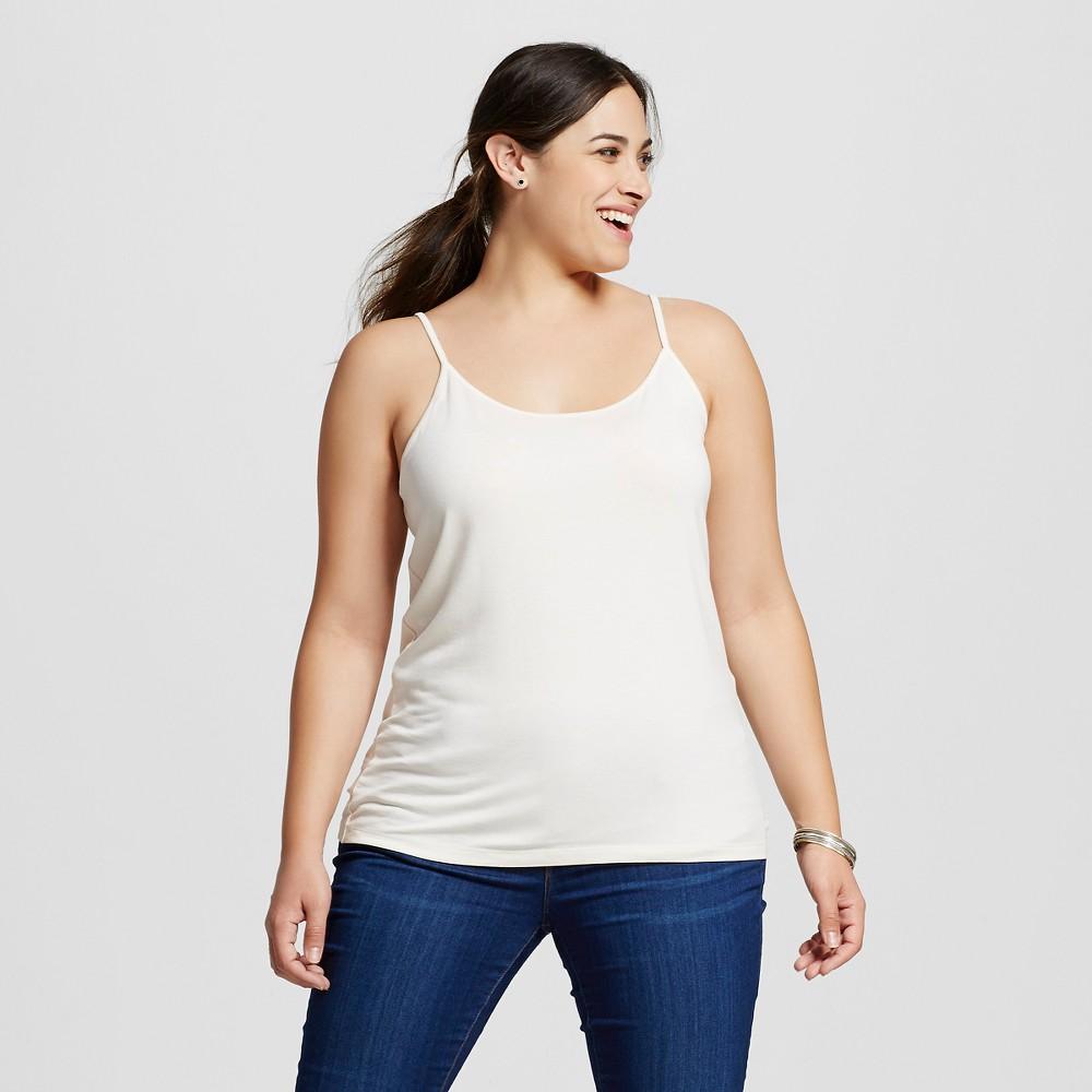 Women's Plus Size Cami - Ava & Viv - Shell (White) 1X