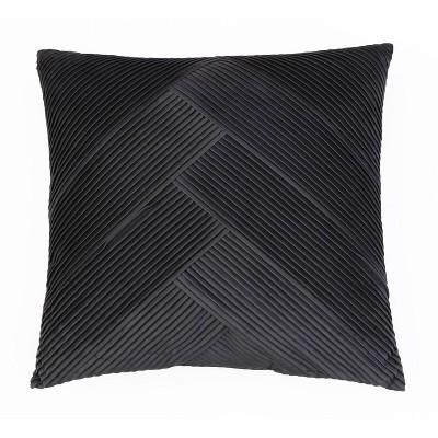 "20""x20"" Abigail Pleated Velvet Pillow - Decor Therapy"