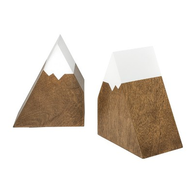 Mountain Peak Bookends - Cloud Island™ Brown