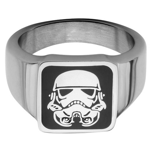 Men's Star Wars Stormtrooper Stainless Steel Square Top Ring - image 1 of 2