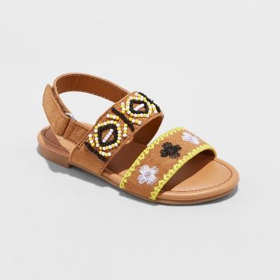 Toddler Girls' Kelsie Embellished Slide Sandals - Genuine Kids™ from OshKosh® Cognac 10