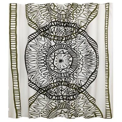 Large Medallion Shower Curtain Black - Room Essentials™