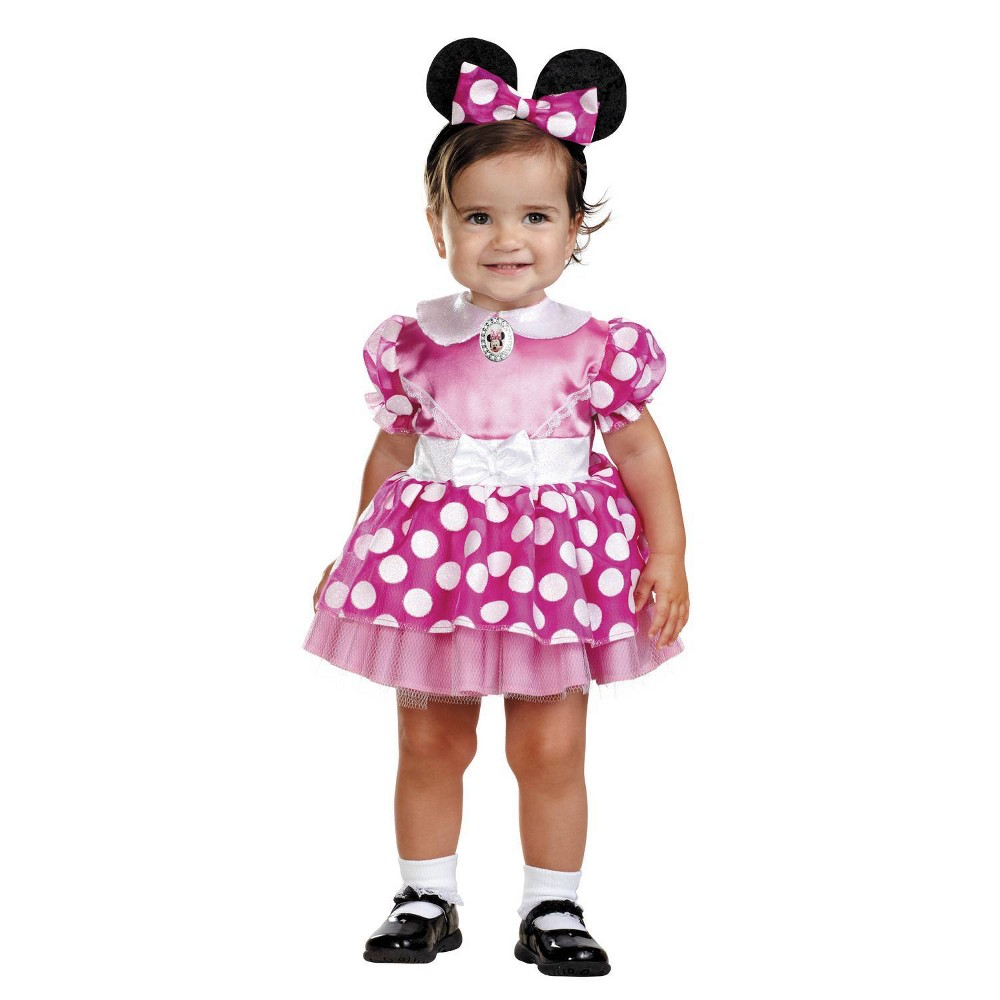 Image of Halloween Girls' Minnie Mouse Costume Pink 12-18 Months, Girl's, MultiColored